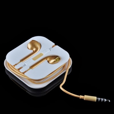 3 5mm Oro Auricolari Cuffia auricolare con Remote & Mic Per