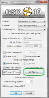 Melhor configuração pcsx2 video (habilitar hacks)
