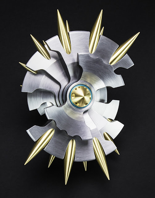 CNC machined Aluminum, brass, Anodized, Metal, sculpture
