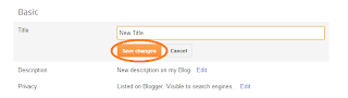 Change your Blog title in Blogger