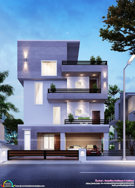 Simple Modern Home In Bangalore - Kerala Design And