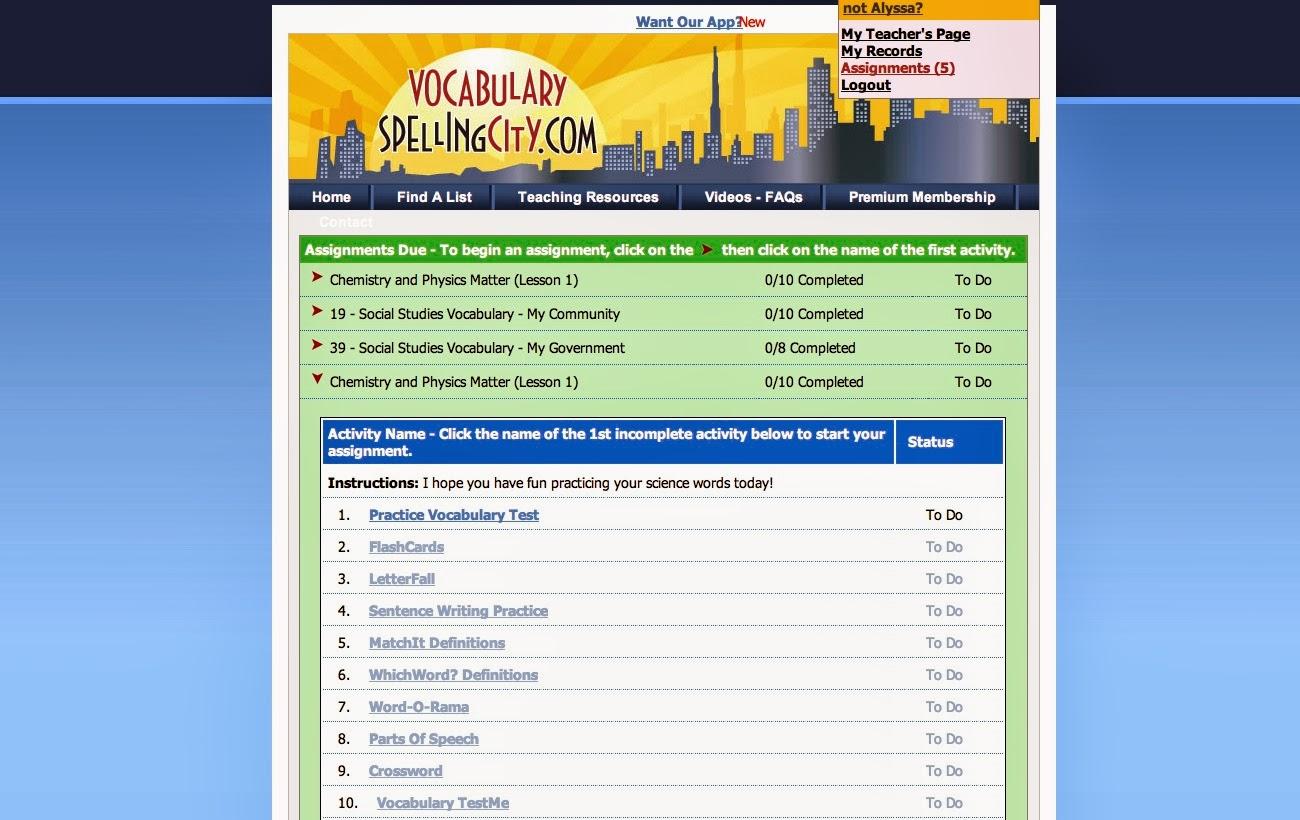 A Learning Journey: Schoolhouse Review: VocabularySpellingCity