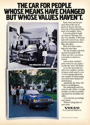 Classic VOLVO advertising - 1986 For Those Whose Values Haven't Changed