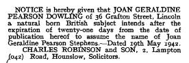Excerpt from the London Gazette - 22 May 1942