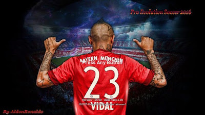 PES 2016 Arturo Vidal Start Screen HD By AldonRonaldo