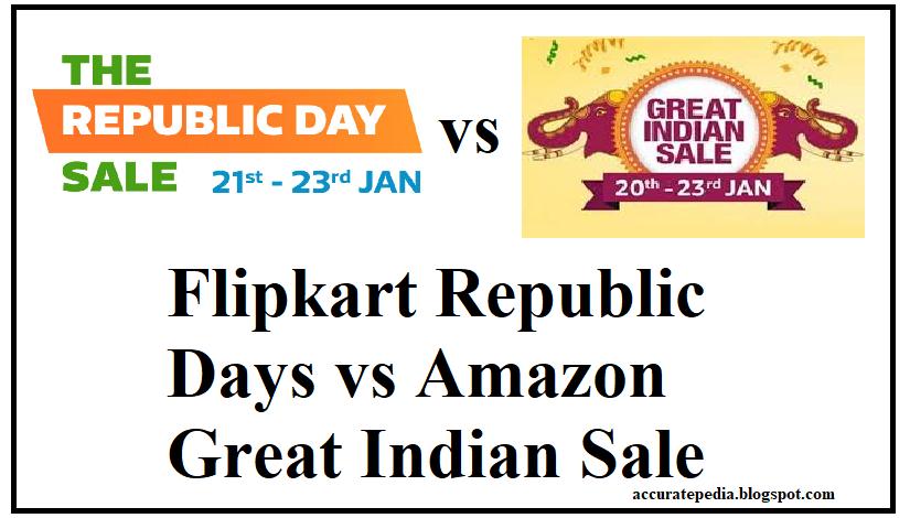 552e40d03ee Flipkart Republic Days vs Amazon Great Indian Sale  OnePlus
