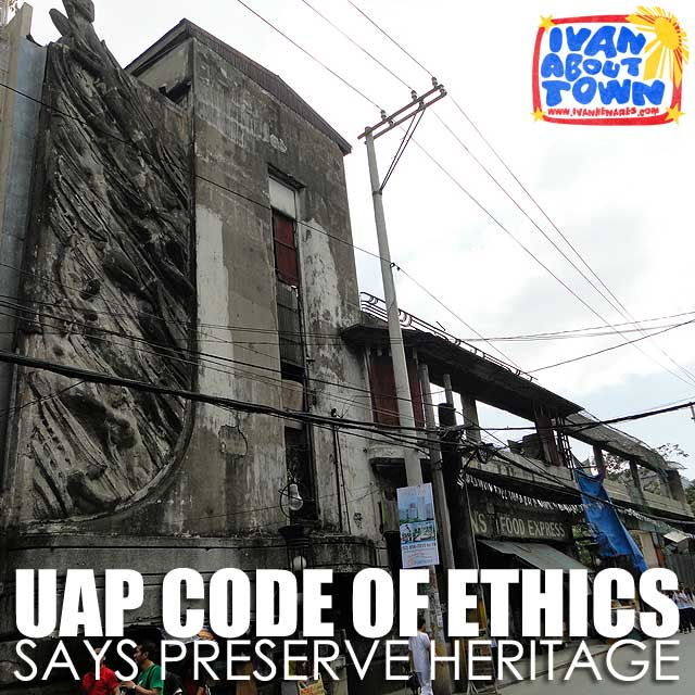 UAP Code of Ethical Conduct tells architects to preserve & restore