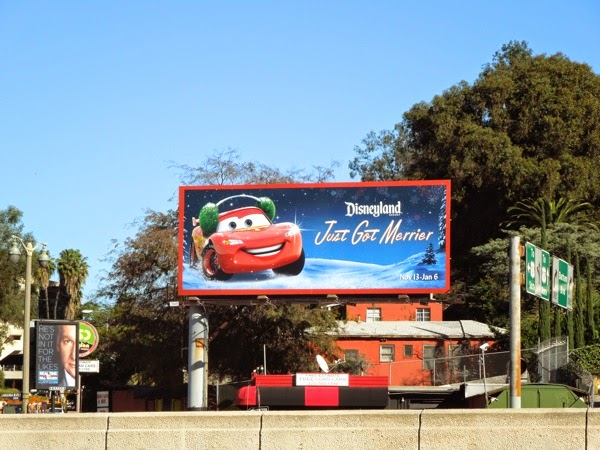 Disneyland Just got merrier Lightning McQueen billboard
