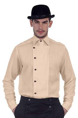 steampunk victorian mens linen shirt