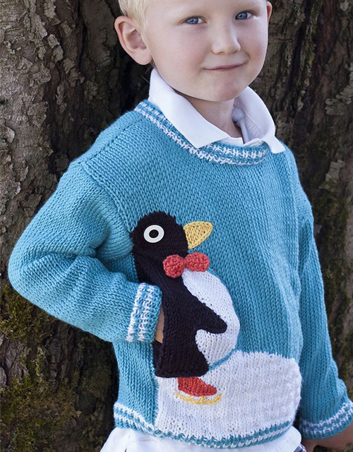 Penguin Pullover - Free Pattern
