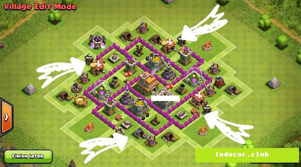Town hall level 6 farming base