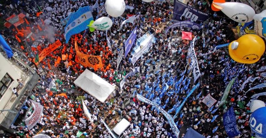 Huelga general y contundente en Argentina en rechazo a las políticas económicas del Gobierno de Macri