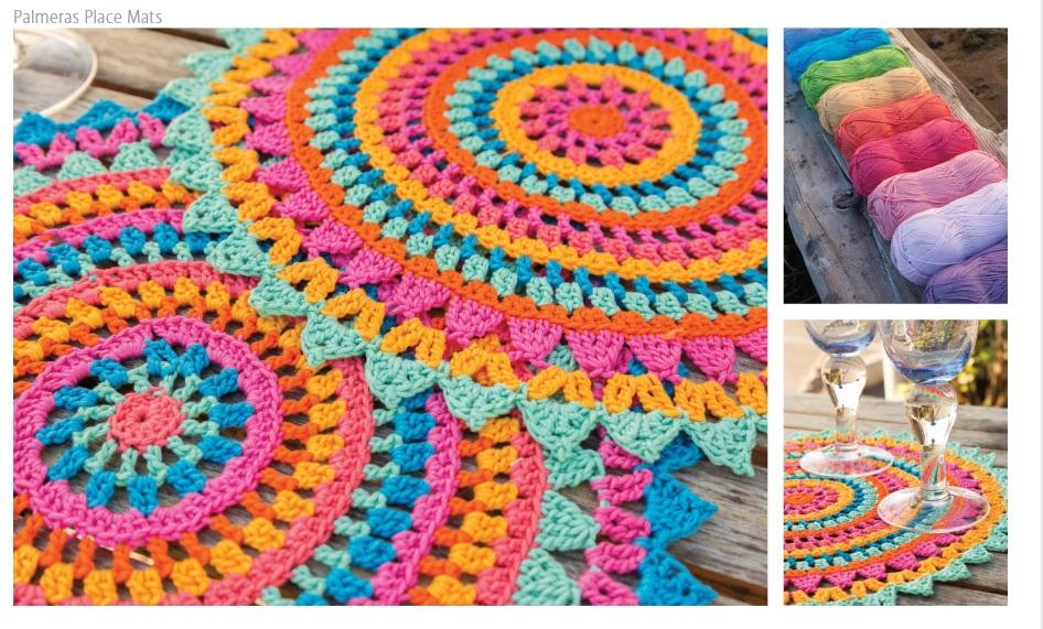 Palmeras Place Mats Crochet Pattern