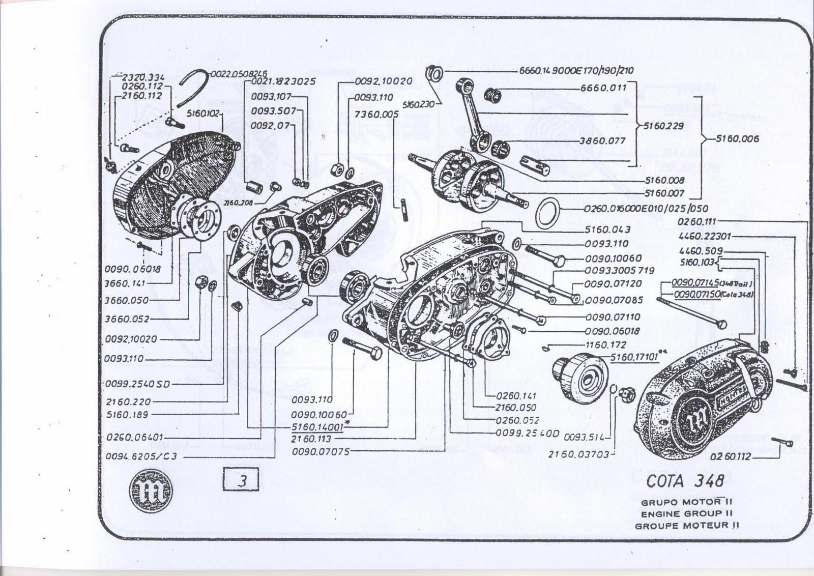 Montesa Cota 348 09 Grupo Motor Ii
