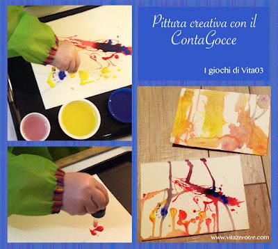 pittura contagocce