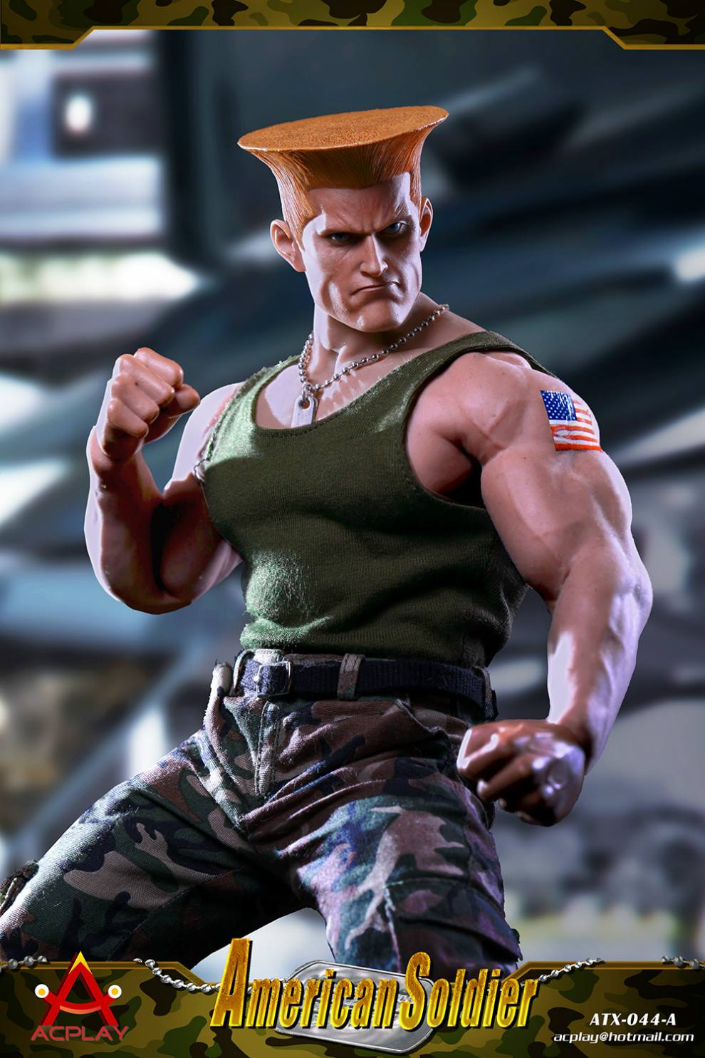 Special effects 1//6 ACPLAY ATX044 Street Bruiser American soldier set Guile