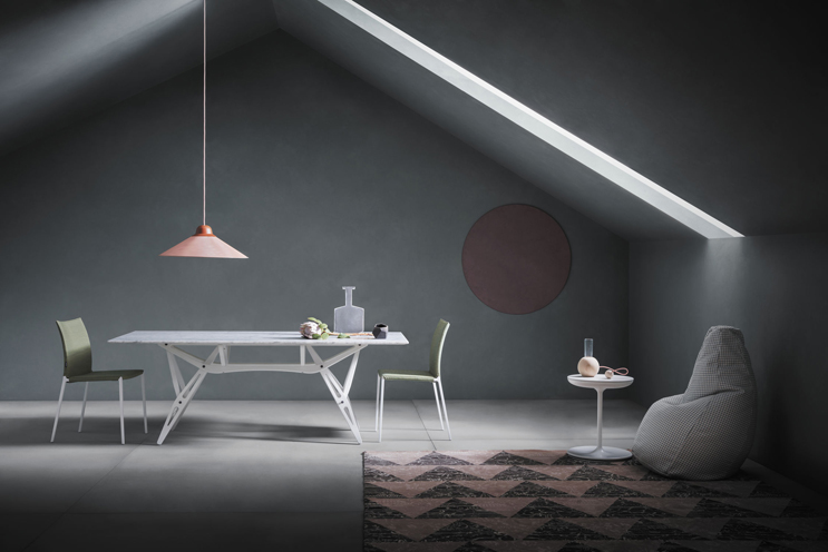 Reale table by Zanotta, design Carlo Mollino