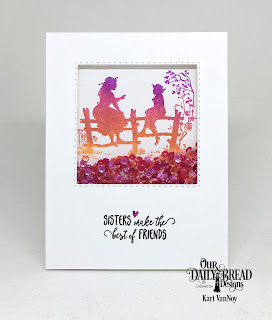 Our Daily Bread Designs Stamp Set: Sister Time, Custom Dies: Double Stitched Squares