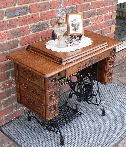 Singer Sewing Machine Repurposed Vanity