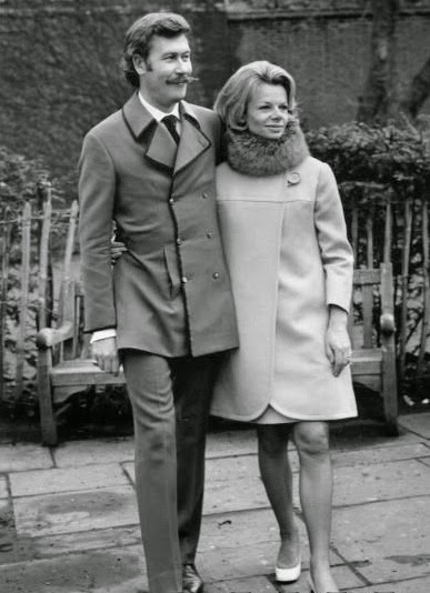 Jill Bennett at their wedding in 1968