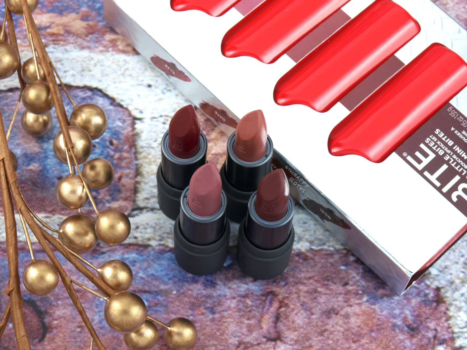 Bite Beauty | Holiday 2018 Four Little Bites Amuse Bouche Lipstick Set: Review and Swatches