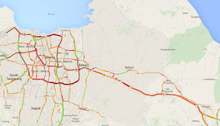H+7 Lebaran Tol Jakarta-Cikampek Macet