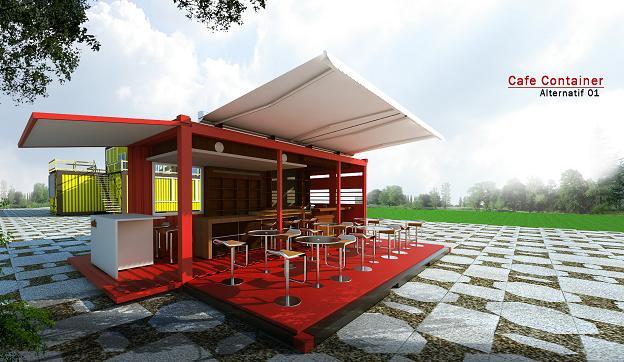 Product DESIGN Konsep desain  cafe  container yang unik