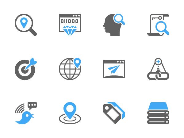 12 Free SEO Glyph Icons