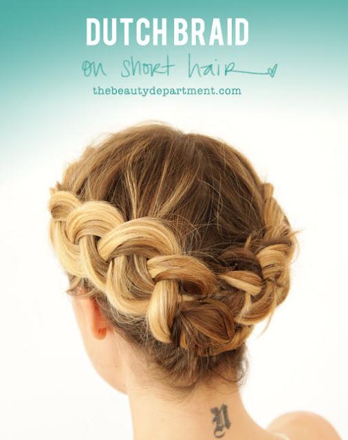 corona de trenza para cabello corto