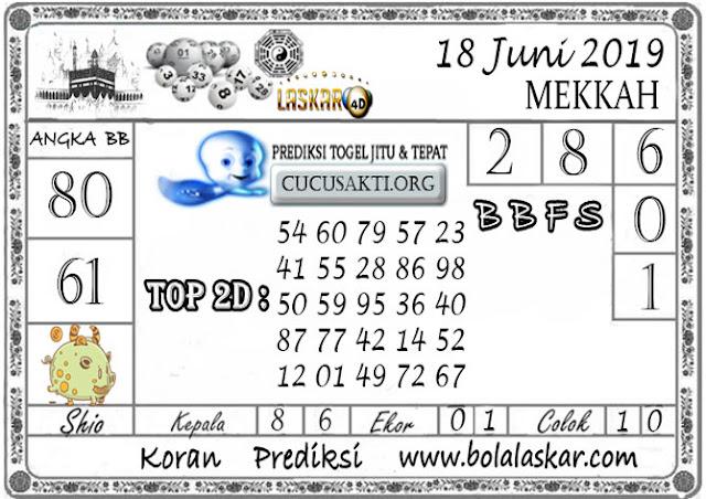 Prediksi Togel MEKKAH LASKAR4D 18 JUNI 2019