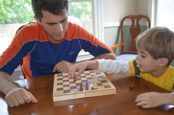teaching preschooler chess