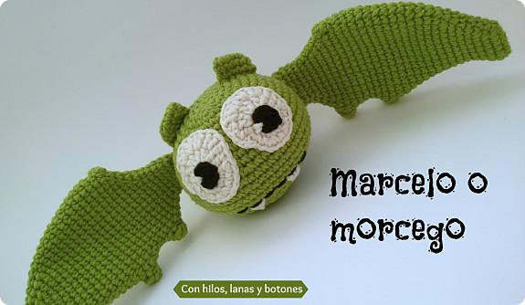 Con hilos, lanas y botones: Marcelo o morcego (murciélago amigurumi)
