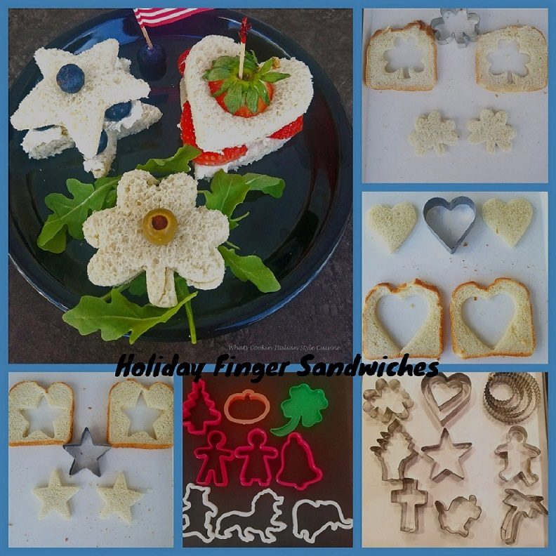 this is how to make tea sandwiches using cookie cutters and the post is on how to make mold able clay dough for ornaments and shaping for kids