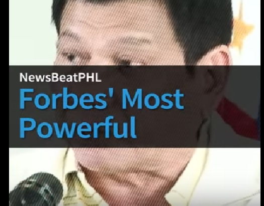 WATCH: Duterte is 70th of Forbes' 74 Most Powerful People