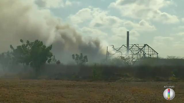 Incêndio destrói galpão de empresa de tratamento de resíduos da região Oeste potiguar