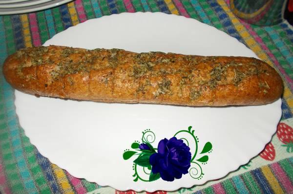 Pão de alho com orégano
