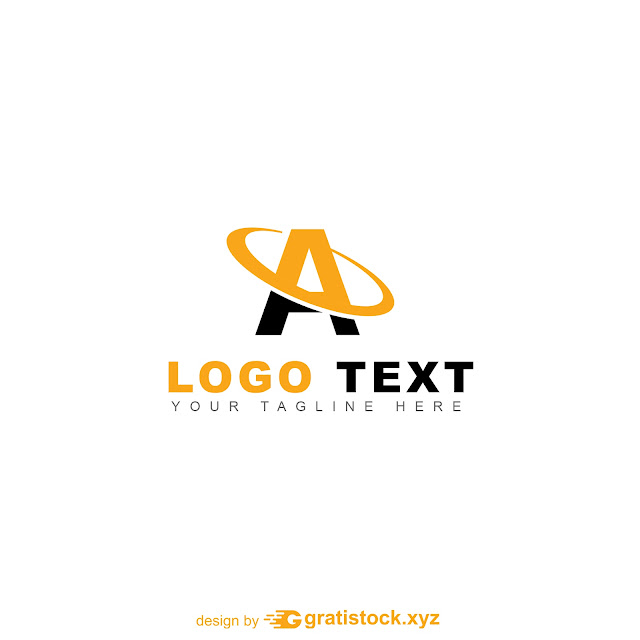 Free Download PSD Logos Of Letter A Simple Yellow and Black.