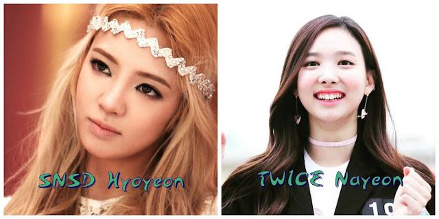 Aynı gün doğan idoller hyoyeon nayeon