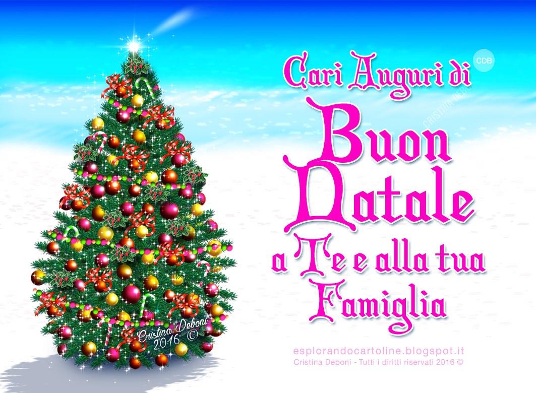 Buon Natale Famiglia.Cdb Cartoline Per Tutti I Gusti Cartolina Cari Auguri Di Buon