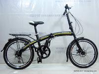 1 Sepeda Lipat GORIN 7 Speed Shimano dan Disc Brake 20 Inci