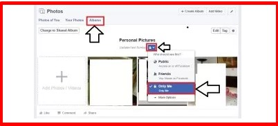 how to make my pictures private on facebook