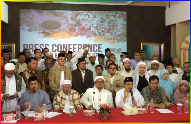 Demo 2 Desember 2016 : Karena Ahok tidak di Tahan atau Aksi damai dan Berdoa untuk Negri
