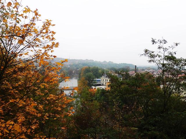 Widok ze wzgórza w Cieszynie na Olzę