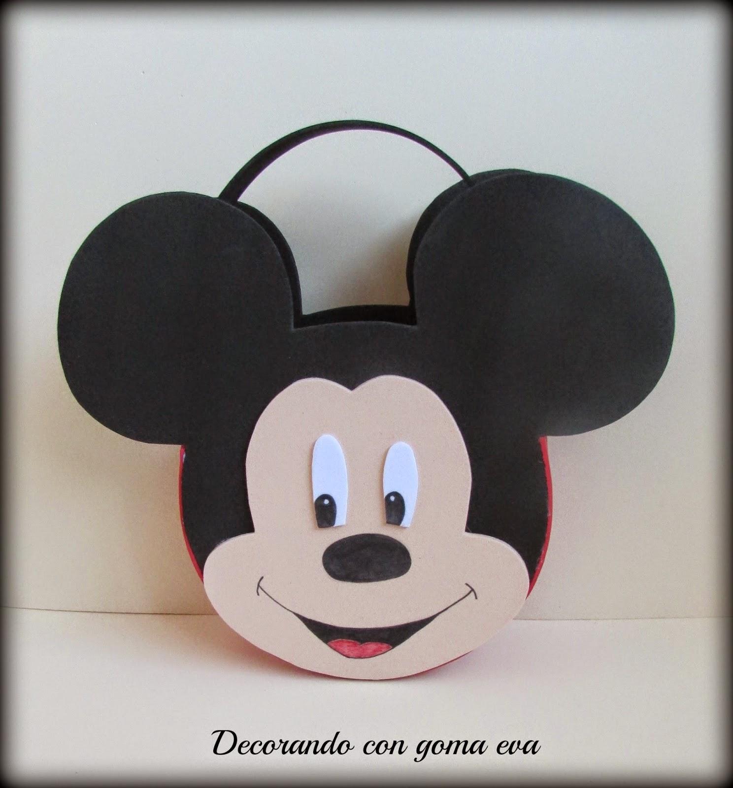 Decorando Con Goma Eva Cestas De Cumpleanos De Minnie Y Mickey Mouse