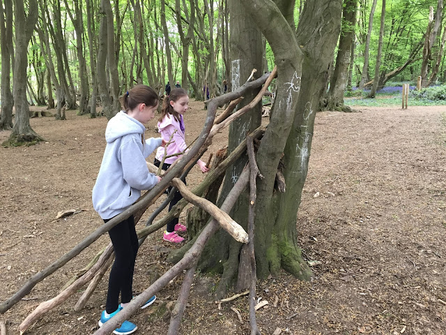 Stephs Two Girls building a den