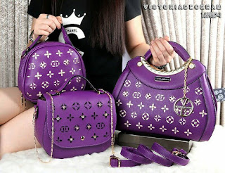 Tas Wanita VB Luxury Culture 3in1 Taiga Leather