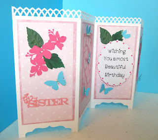 Screen card, front and third panel. Designed by Grace Baxter