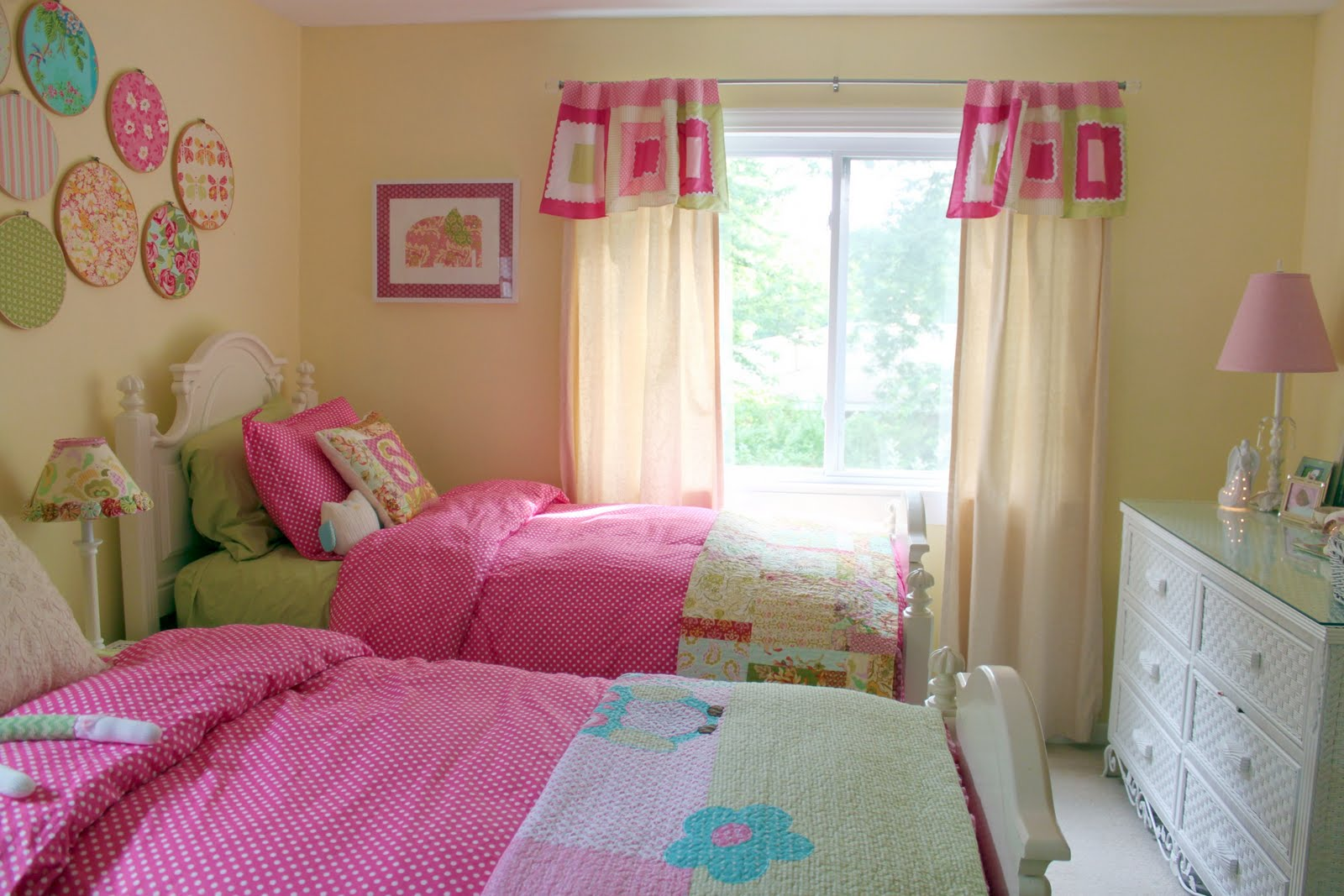 Decorating ~ Girls Shared Toddler Bedroom - The Cottage Mama on Beautiful:9Ekmjwucuyu= Girls Room Decoration  id=90505