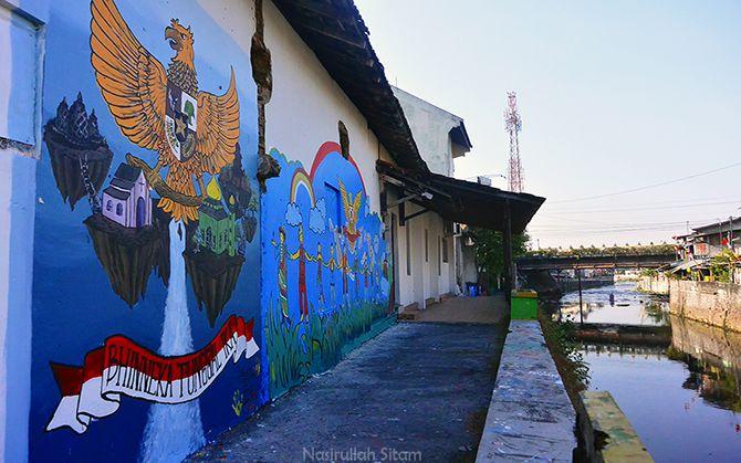 Banyak ditemukan mural Garuda Pancasila di sini
