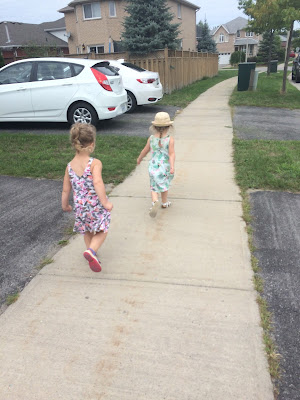 girls on a walk